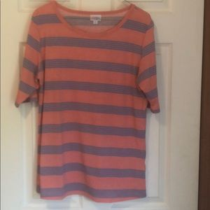 Blue pink stripped tee